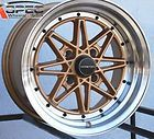 15X8 VARRSTOEN V2 GOLD WHEEL * 15X8  * 4X114.3 * +15  OLD SCHOOL JDM
