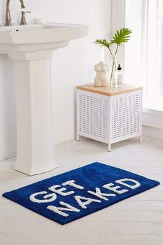Shop Get Naked Bath Mat at Urban Outfitters today. We carry all the latest styles, colors and brands for you to choose from right here. College Apartment Decor, Trendy Home Decor, Apartment Essentials, Cheap Home Decor, College Bathroom, Home Decor, Bathroom Rugs, College Bathroom Decor, Bathroom Rugs And Mats