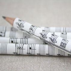 Music Pencil Set. A set of five sheet music pencils. by six0six, €15.00