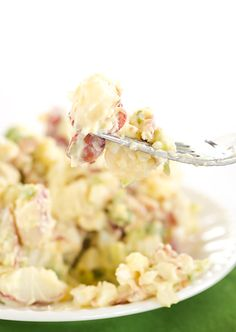 The BEST EVER Potato Salad with a special secret ingredient in the dressing!