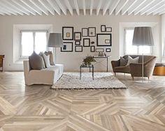 Salvaged Tangram Wood-Look Porcelain Tile   Architectural Ceramics