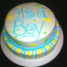 It's a boy! Baby shower cake