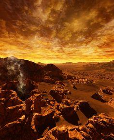 Impresionante imagen de la superficie de Venus. Atmósfera de Venus. En este planeta llueve ¡ácido sulfúrico!