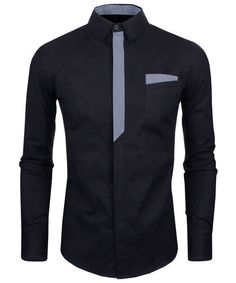 Personality Color Block Plaid Button Fly Slimming Turn-down Collar Long Sleeves Men's Shirt Note: Sizes are Asian. See Size Conversion chart before ordering! Shirts Type Casual Shirts Material Polyest