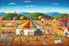 San Bertini - Minha Arte... Minha Vida...: Outubro 2009 Arte Popular, Naive, Folk Art, Taj Mahal, Whimsical, San, Landscape, Kids, Painting