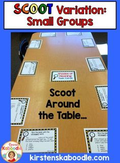 Do you work with small groups of students?  Do your students love to use task cards in your classroom?  This teacher friendly approach incorporates task cards using a table for a game of Scoot and is a great approach for smaller groups of students.