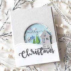 3d Christmas, Christmas Cards To Make, Holiday Cards, Handmade Christmas Cards, Embossed Christmas Cards, Stampin Up Christmas, Stampin Up Weihnachten, Scrapbooking Photo, Christmas Blessings