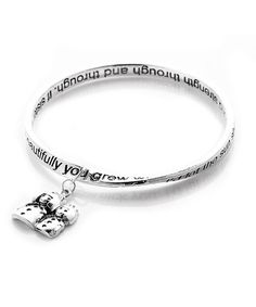 Another great find on #zulily! Silver Sister Poem Charm Bangle #zulilyfinds