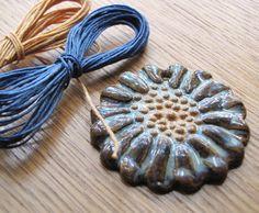 Denim friendly stoneware pendant