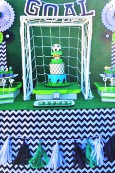 Sweet Pea Parties LA's Birthday / Soccer - Photo Gallery at Catch My Party Toy Story Birthday, Toy Story Party, Cat Birthday, Boy Birthday Parties, Soccer Theme Parties, Soccer Party, Mickey Mouse Parties, Mickey Mouse Birthday, Sofia Party