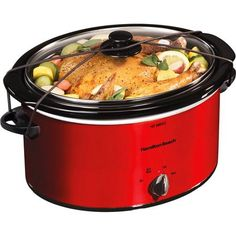 Hamilton Beach 5-Quart Portable Slow Cooker THE BLACK AND WHITE ONE, not the red one