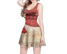 Moana Inspired Skater Dress by KawaiianPizzaApparel on Etsy Casual Cosplay, Cosplay Outfits, Moana Outfits, Disney Inspired Outfits, Disney Style, Running Costumes, Spandex Dress, Check Dress, Fall Dresses