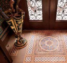 English encaustic tiles, here in a New York City brownstone vestibule