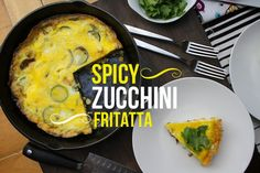 Spicy Zucchini Frittata from @shutterbean. Breakfast, lunch or dinner. I say all three!
