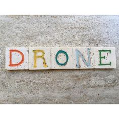 Drone, Flying Robot Name On Carved Photograph