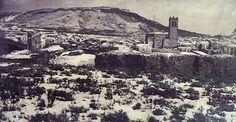 Priego antiguo cubierto de nieve