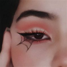 Aesthetic Makeup, Pink Aesthetic, Orange Red, Red And Pink, Makeup Brushes, Eye Makeup, Butterfly Makeup, Eyeliner Looks, Instagram Quotes