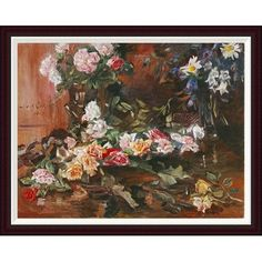 Global Gallery Rosen by Lovis Corinth Framed Painting Print Size: