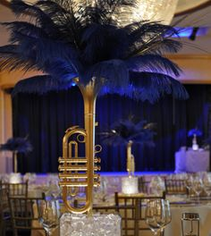 Hate to toot my own horn, but...this IS the perfect centerpiece for a musical theme prom.