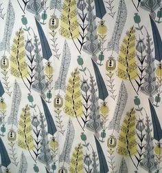 Mary White, Cottage Textile fabric print, UK, 50's.