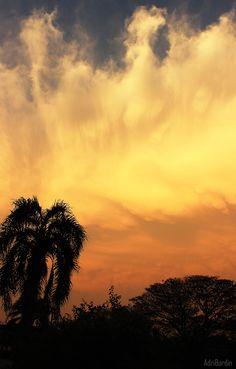 Sunset, after the rain. Foz do Iguaçu, Brazil.