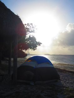 Sunrise at the campsite, in the Florida Keys.