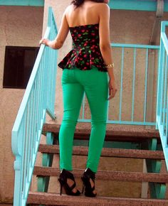 ON SALE Peplum Halter Top Shirt Cherries Retro by lanationclothing, $16.50 Free shipping on orders of $25 or more!
