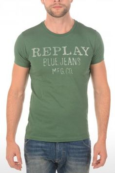 Replay t-shirt M6154 Forrest Green M6154 2660 7 Forrest Green » JeansandFashion.com