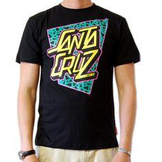 80s inspired graphic print t shirt #80s #surf #skate #santacruz http://surfapparel.com/santa-cruz-27-c.asp