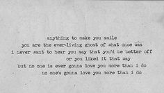 no one's gonna love you - band of horses // every time i hear this song it makes me think of a dear friend. <3