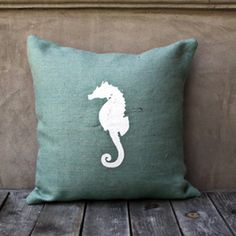 I pinned this Seahorse Pillow III from the A Bit of Burlap event at Joss and Main! LG Designs