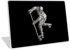 ' Laptop Skin by NocturnDesign Ice Hockey, Laptop Skin, Ipad Case, Skulls, Action, Cases, Iphone, Dark, Metal