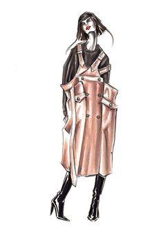 Marker illustration by Lara Wolf #fashionillustration #marker #illustration #drawing