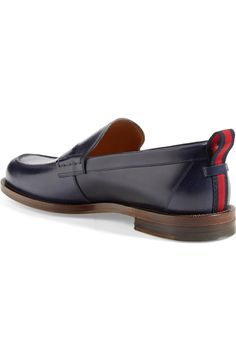 Gucci 'Tobias' Penny Loafer (Men)   Nordstrom Penny Loafers, Loafers Men, Tobias, Grosgrain, Gucci, Nordstrom, Casual, Leather, Shoes