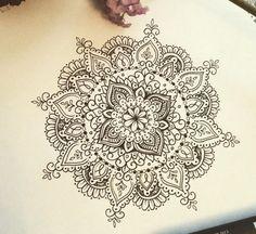 Middle of flower tattoo Mandala Tattoo Design, Dotwork Tattoo Mandala, Tattoo Designs, Henna Mandala, Mandala Drawing, Mandala Tattoo Shoulder, Tattoo Drawings, Body Art Tattoos, New Tattoos