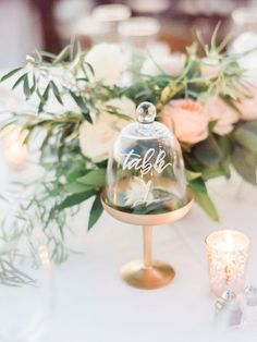 Terrarium Wedding Table Number