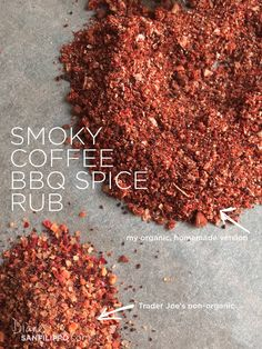 Coffee Rub Recipe, Coffee Recipes, Homemade Spices, Homemade Seasonings, Bbq Dry Rub, Dry Rubs, Ketchup, Chutney, Steak Spice