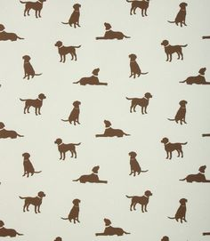 Great fabric for dog lovers. Made from 100% cotton. Ideal curtain fabric, also suitable for blinds and cushions. Buy online or visit one of our shops where you can see our vast range of designer clearance fabrics.