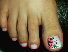 The summer will be here before you know it and you want to make your nails stand out. Pedicure Designs, Toe Nail Designs, Feet Nail Design, Cute Pedicures, Happy Nails, Manicure Y Pedicure, Feet Nails, Sparkle Nails, Colorful Nail Designs