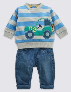 Keep him comfy and happy in this adorable outfit.