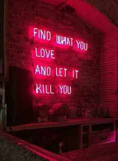 Find what you love...