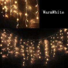 Goedkope Ac 220 v 240 v eu au plug 5 m gordijn ijspegel lichtslingers kerst tuin lampen ijspegels xmas bruiloft decoraties, koop Kwaliteit   rechtstreeks van Leveranciers van China:  1set 12V Outdoor copper wire string fairy lighting 10M 100 LED Vines lights Christmas wedding party decoration li