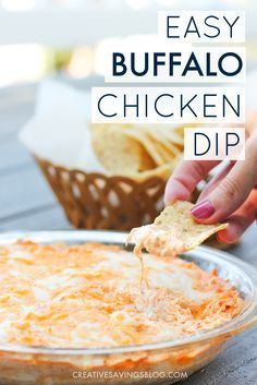 """I've made this recipe for so many parties and everyone just LOVES it! In fact, the first thing anyone asks me when they first taste it is: """"Can I have your Buffalo Chicken Dip recipe? This is amazing!"""" I just tell them """"I got it from Pinterest."""" :)"""