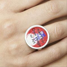 Customizable Silverplate Ring - Gifts - Personalize Your Beautiful Ring - Available in the Liberty Dog Store