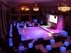 Sherwood Event Hall says dramatic lighting can really make a party or event special!  #atlanta #catering #cake #eventstyling #eventcompany #sangeetwedding #corporateevent #sherwoodeventhall #wedding #atlantawedding #weddingideas #entertaining #atlantavenues #entertainment #partyideas #corporateevent #quinceanera #sweet16 #barmitzvah #birthdayparty