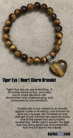 LOVE: Tiger Eye Heart Charm ॐ Yoga Beaded Bracelet Chakra Energy Healing Mala Stacks Reiki Meditat Bracelet Chakra, Chakra Armband, Yoga Bracelet, Reiki Meditation, Heart Pendant Necklace, Heart Earrings, Love Bracelets, Beaded Bracelets, Crystals And Gemstones
