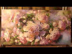 Oil painting Alla Prima. Sunny peonies. Солнечные пионы. Живопись масло...