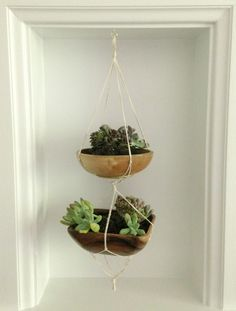 DIY Mini Hanging Planter -- Houseologie.com