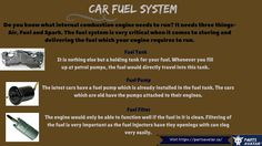 is check engine light blinking on your car's dash??Can't figure out the cause??  Do you know the exact working of internal combustion engine?? the essential components of car fuel system??  Check out this interesting info graphic as it highlights the car fuel system.  Car repairs dont get expensive unless you ignore the pivotal component's maintenance.  Engine is like a heart of the car, and you need to maintain the heart in order to live, dont y