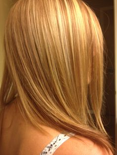 Strawberry blonde hair foils